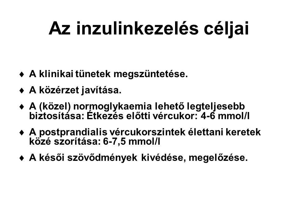 Az inzulinkezelés céljai