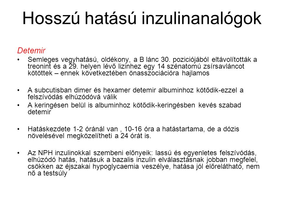 Hosszú hatású inzulinanalógok