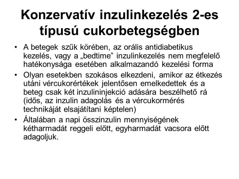 Konzervatív inzulinkezelés 2-es típusú cukorbetegségben