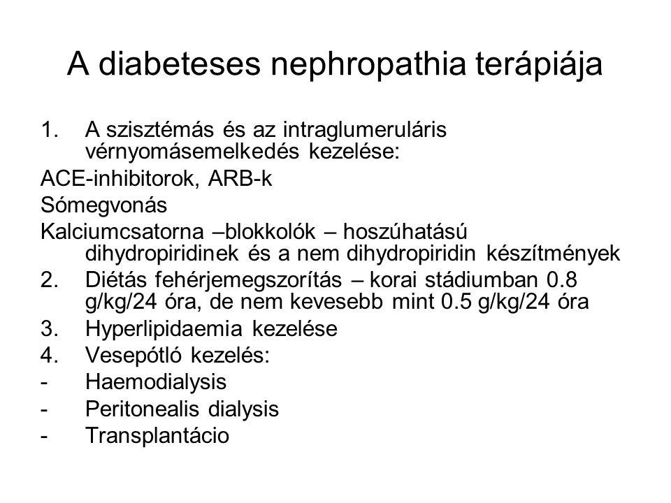 A diabeteses nephropathia terápiája