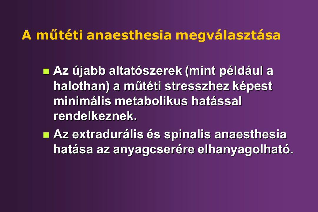 A műtéti anaesthesia megválasztása