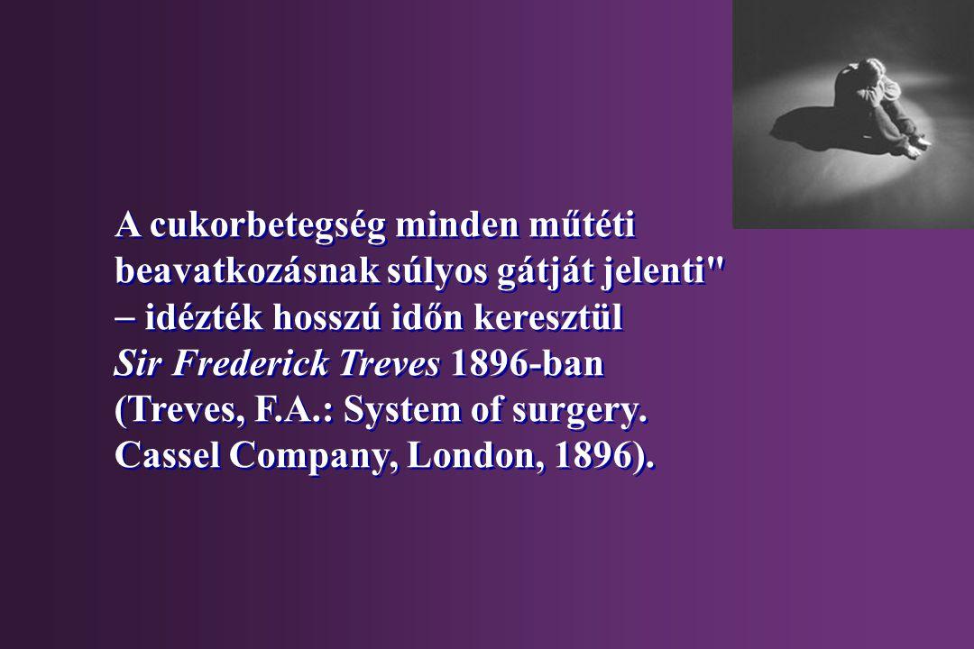 A cukorbetegség minden műtéti