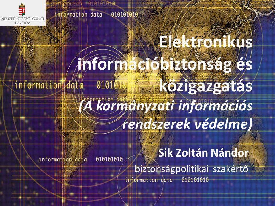 Sik Zoltán Nándor biztonságpolitikai szakértő