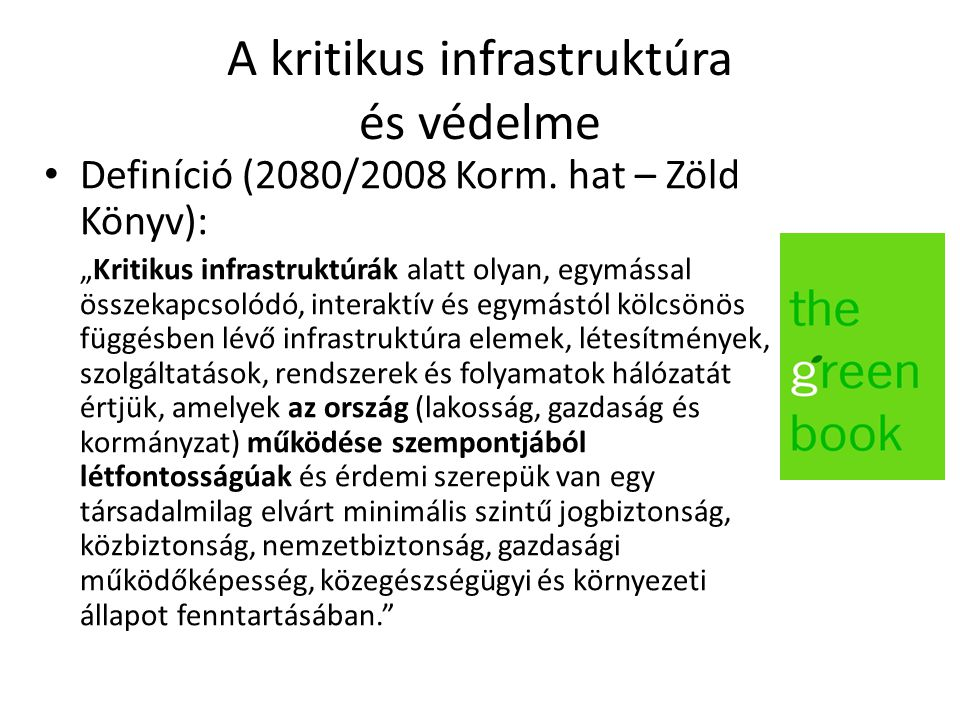 A kritikus infrastruktúra és védelme