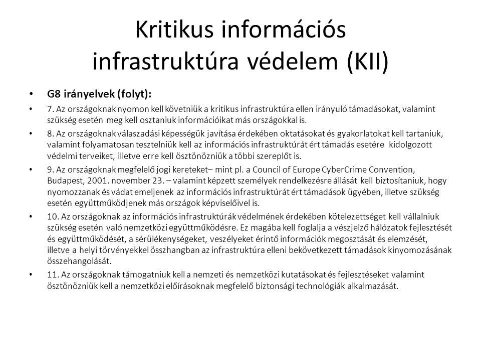 Kritikus információs infrastruktúra védelem (KII)