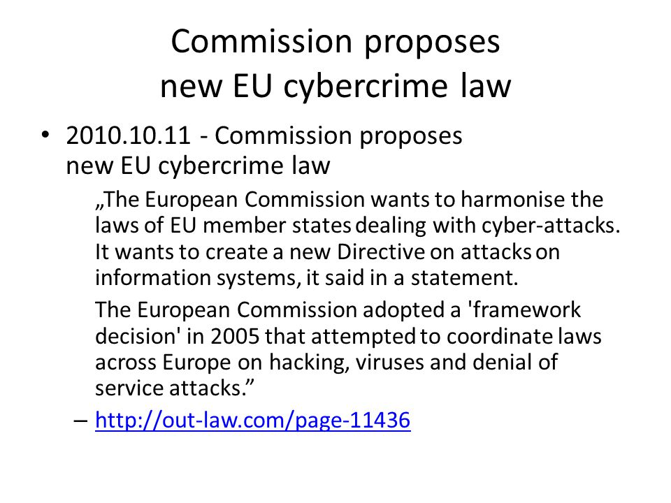 Commission proposes new EU cybercrime law