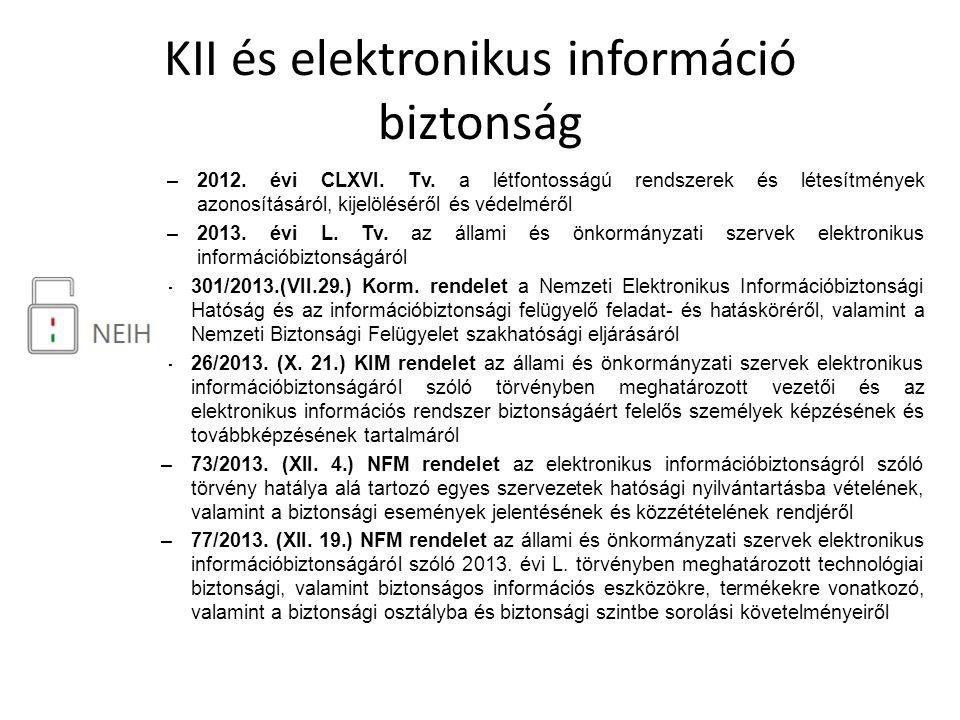KII és elektronikus információ biztonság