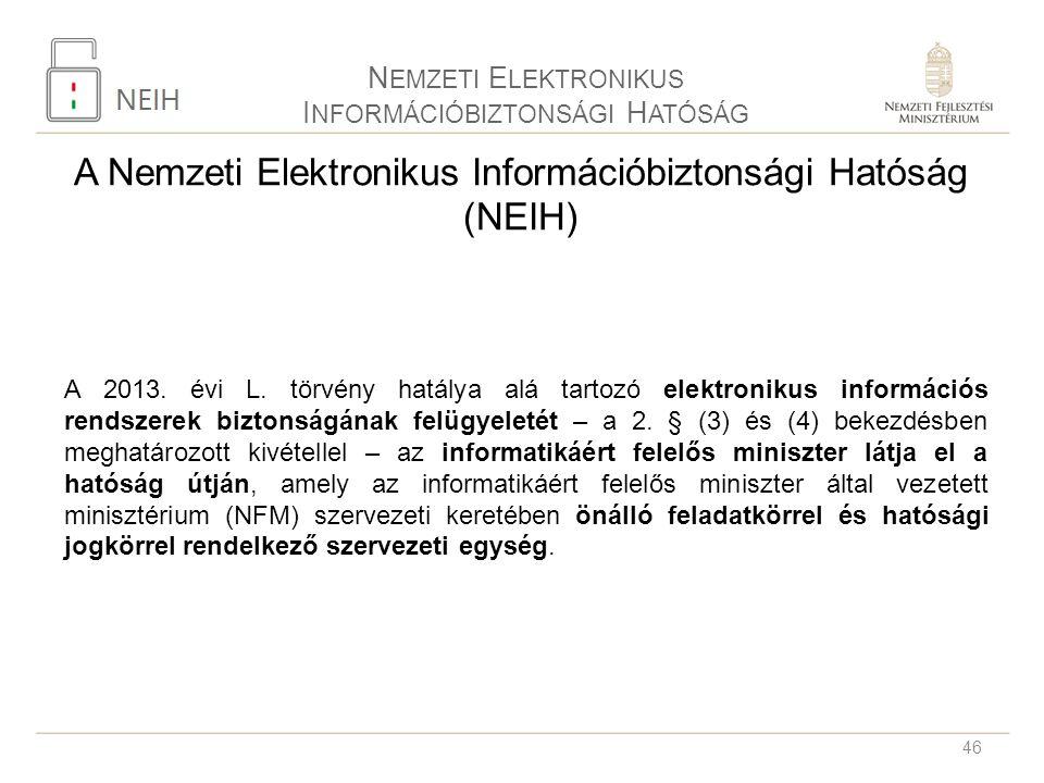 A Nemzeti Elektronikus Információbiztonsági Hatóság (NEIH)