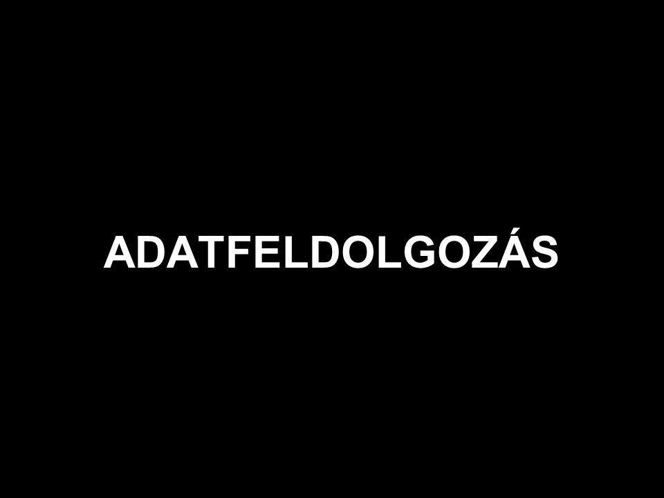 ADATFELDOLGOZÁS