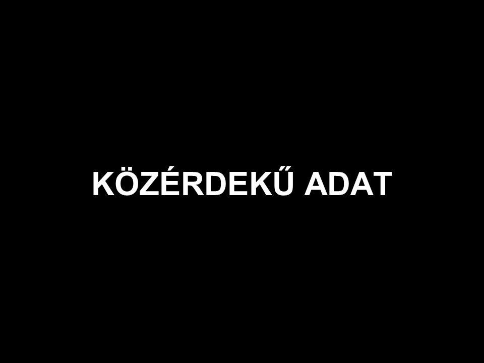 KÖZÉRDEKŰ ADAT