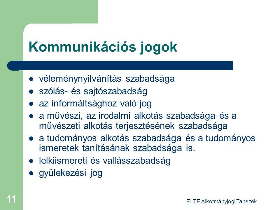 ELTE Alkotmányjogi Tanszék