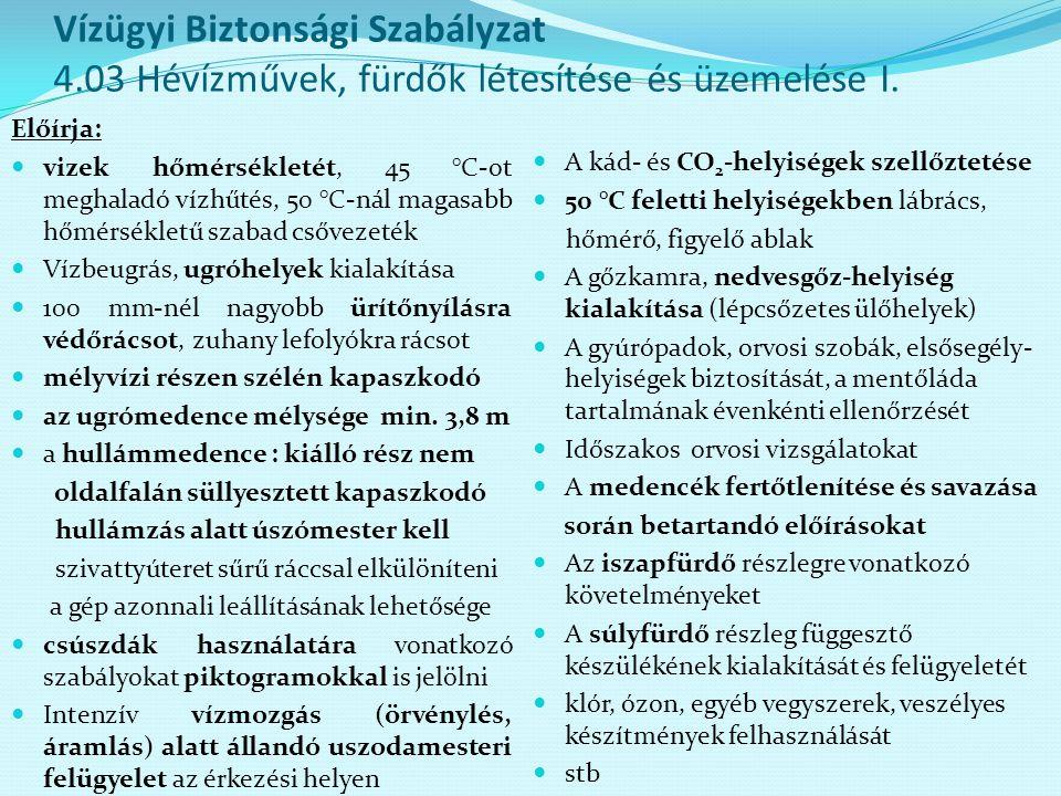 Vízügyi Biztonsági Szabályzat 4