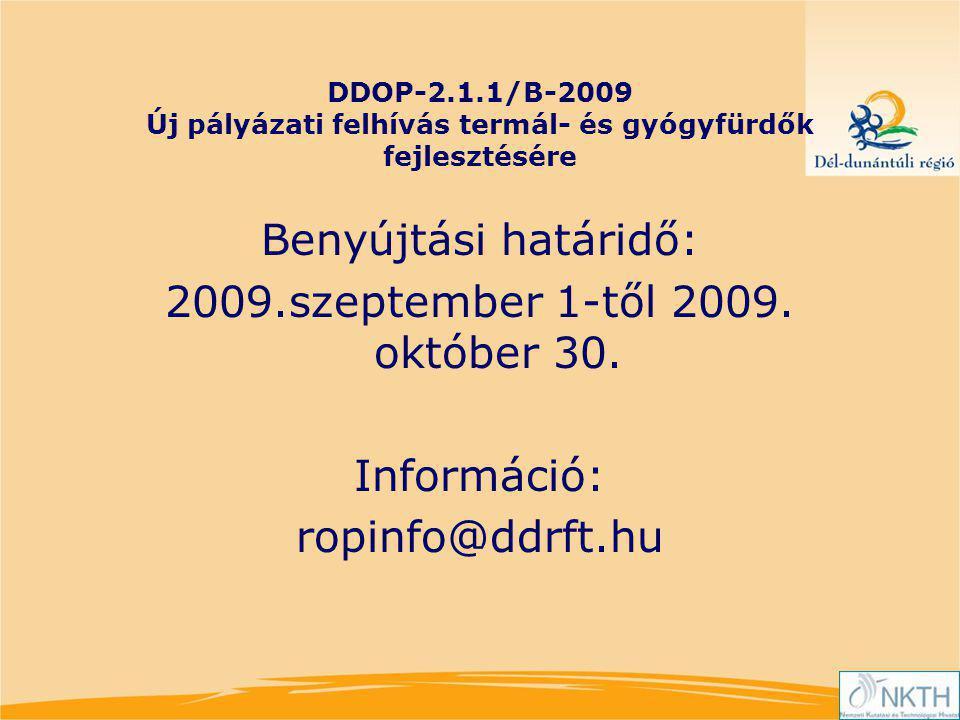 2009.szeptember 1-től 2009. október 30.