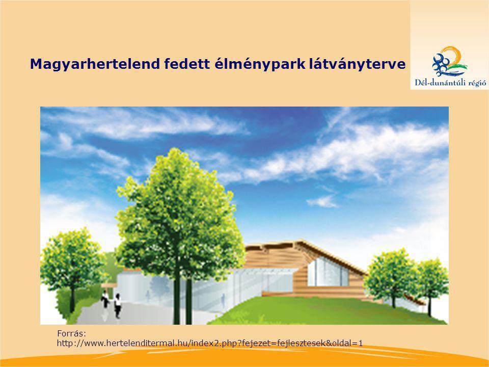 Magyarhertelend fedett élménypark látványterve