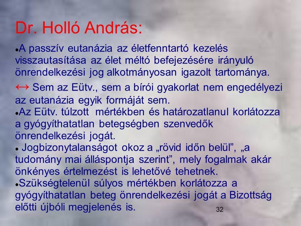 Dr. Holló András: