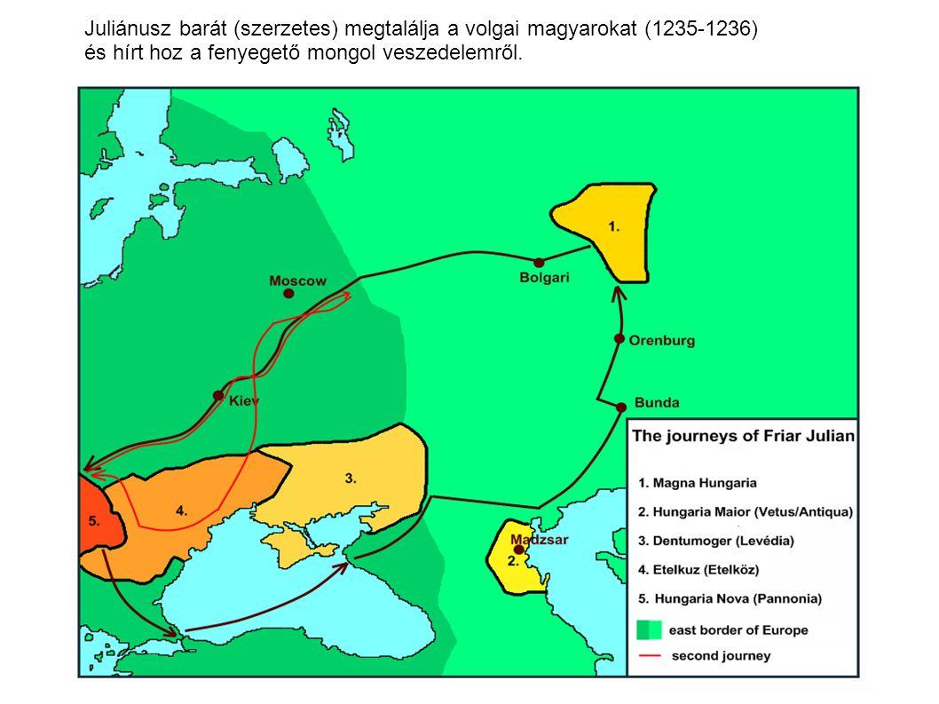 Juliánusz barát (szerzetes) megtalálja a volgai magyarokat (1235-1236)