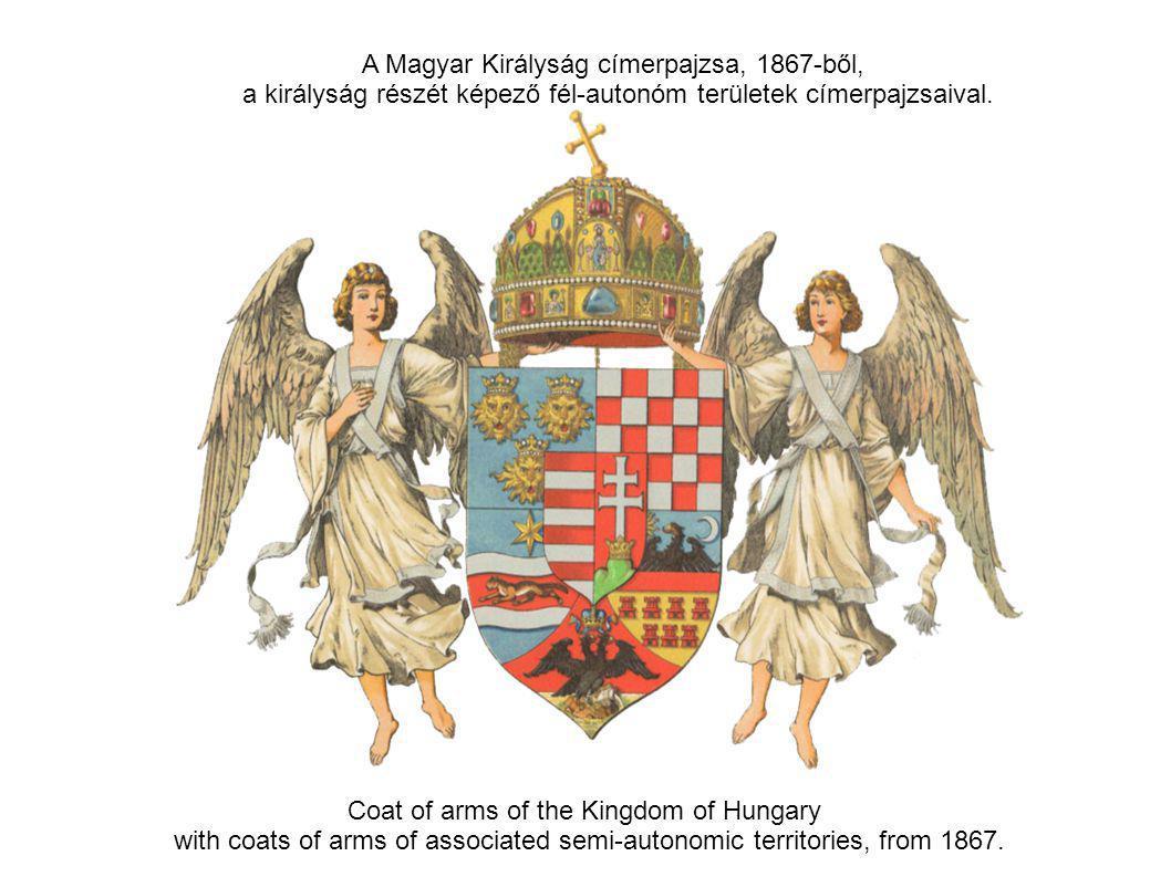 A Magyar Királyság címerpajzsa, 1867-ből,