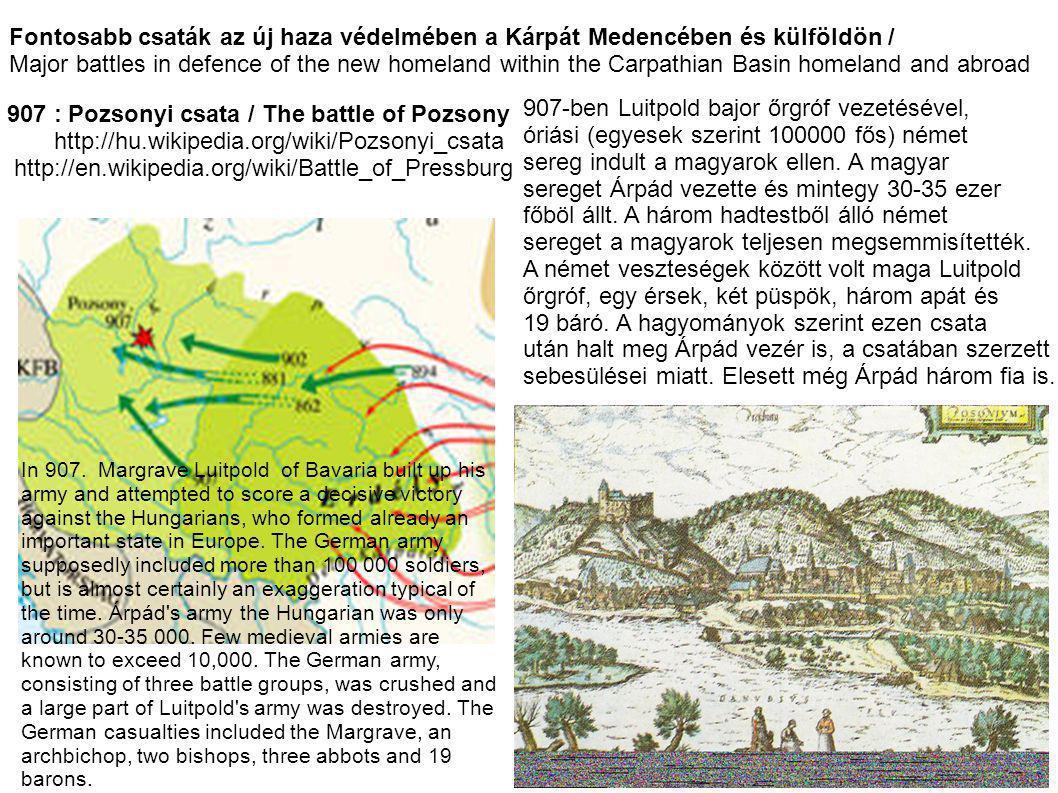 907-ben Luitpold bajor őrgróf vezetésével,
