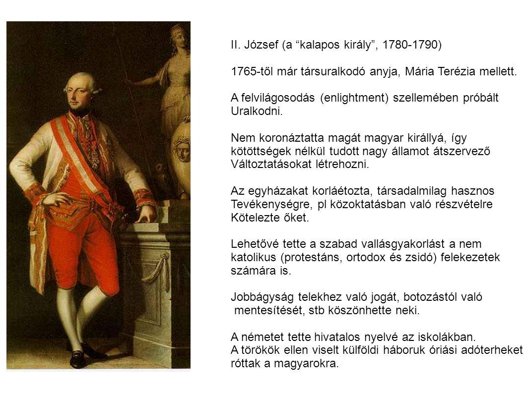 II. József (a kalapos király , 1780-1790)