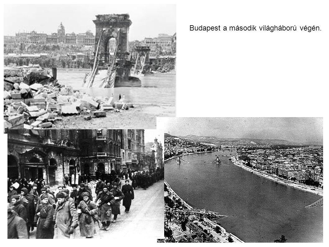 Budapest a második világháború végén.
