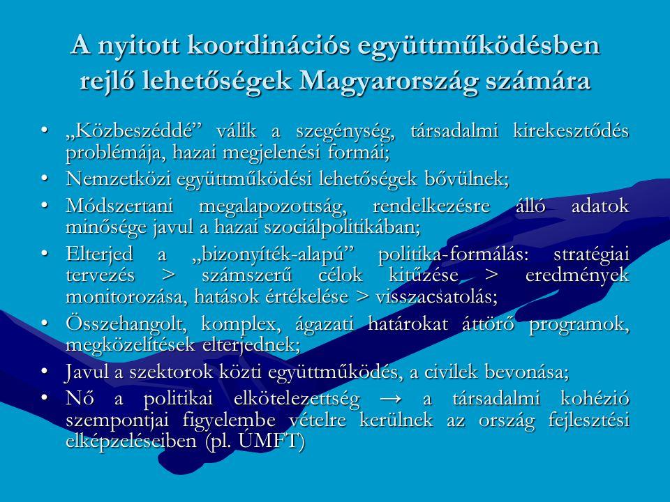 A nyitott koordinációs együttműködésben rejlő lehetőségek Magyarország számára