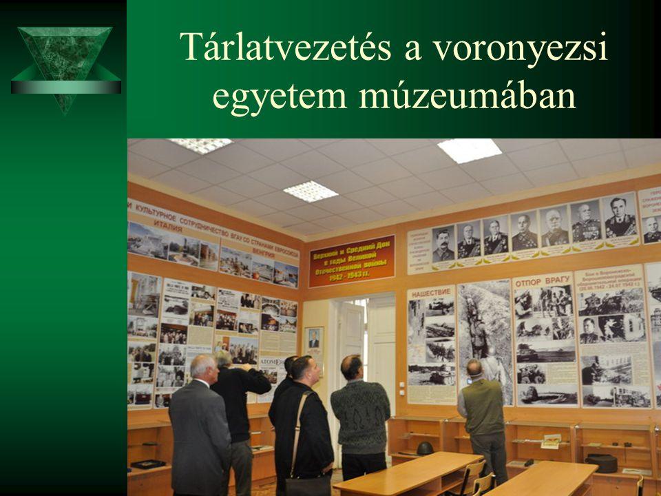 Tárlatvezetés a voronyezsi egyetem múzeumában