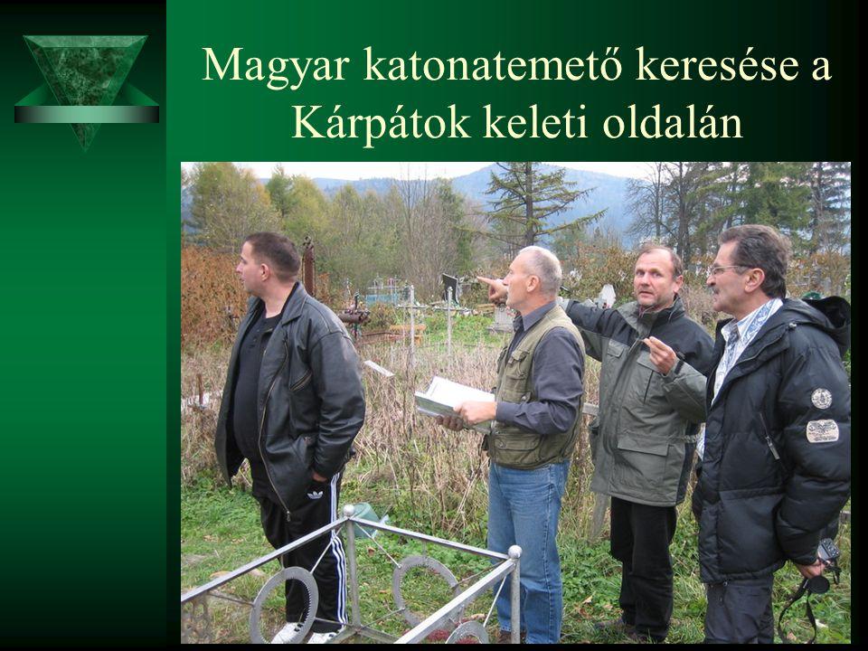 Magyar katonatemető keresése a Kárpátok keleti oldalán