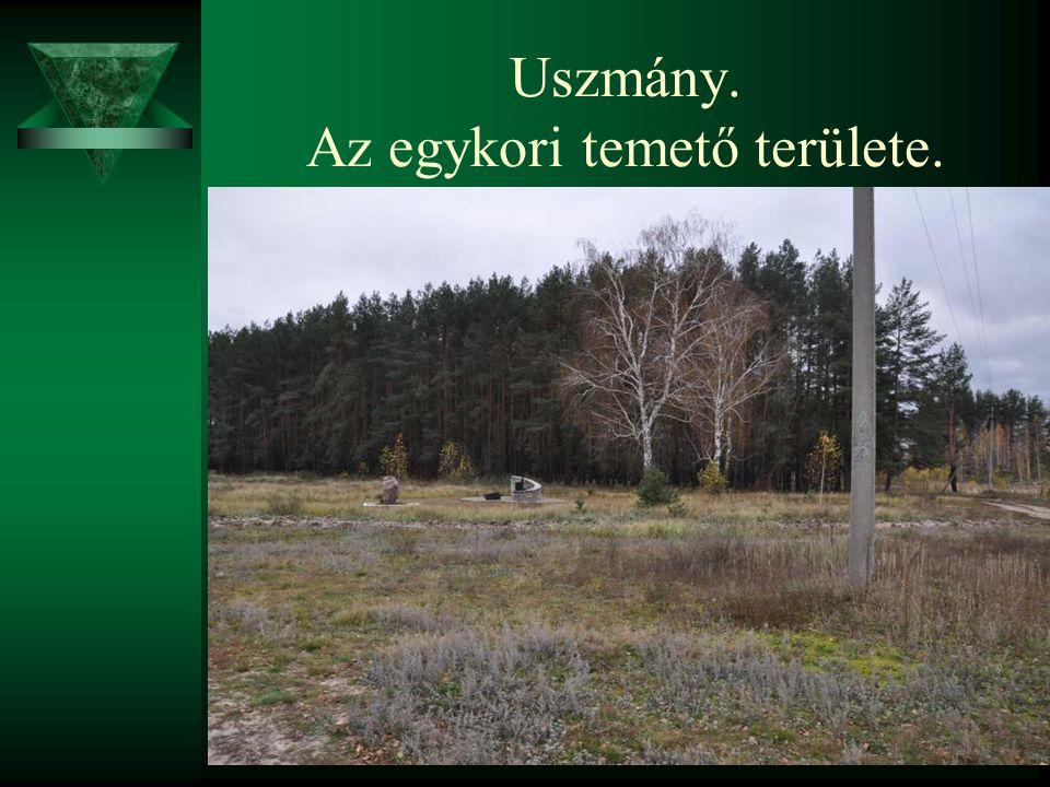 Uszmány. Az egykori temető területe.