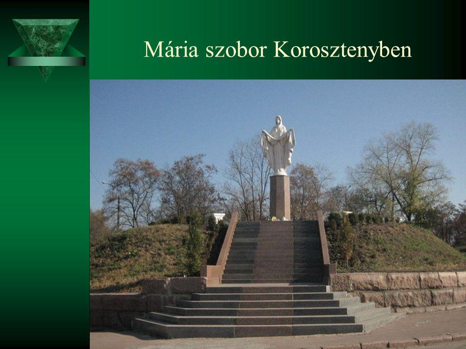 Mária szobor Korosztenyben