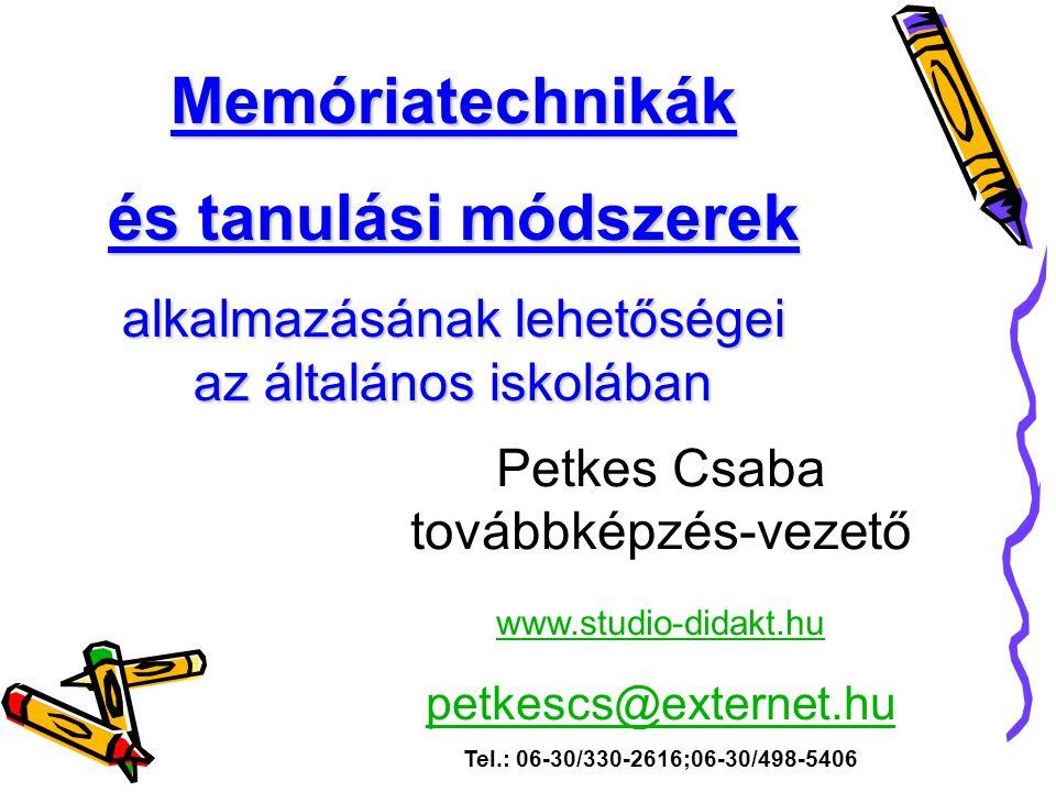Memóriatechnikák és tanulási módszerek