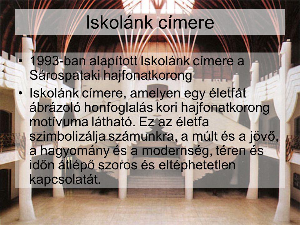 Iskolánk címere 1993-ban alapított Iskolánk címere a Sárospataki hajfonatkorong.