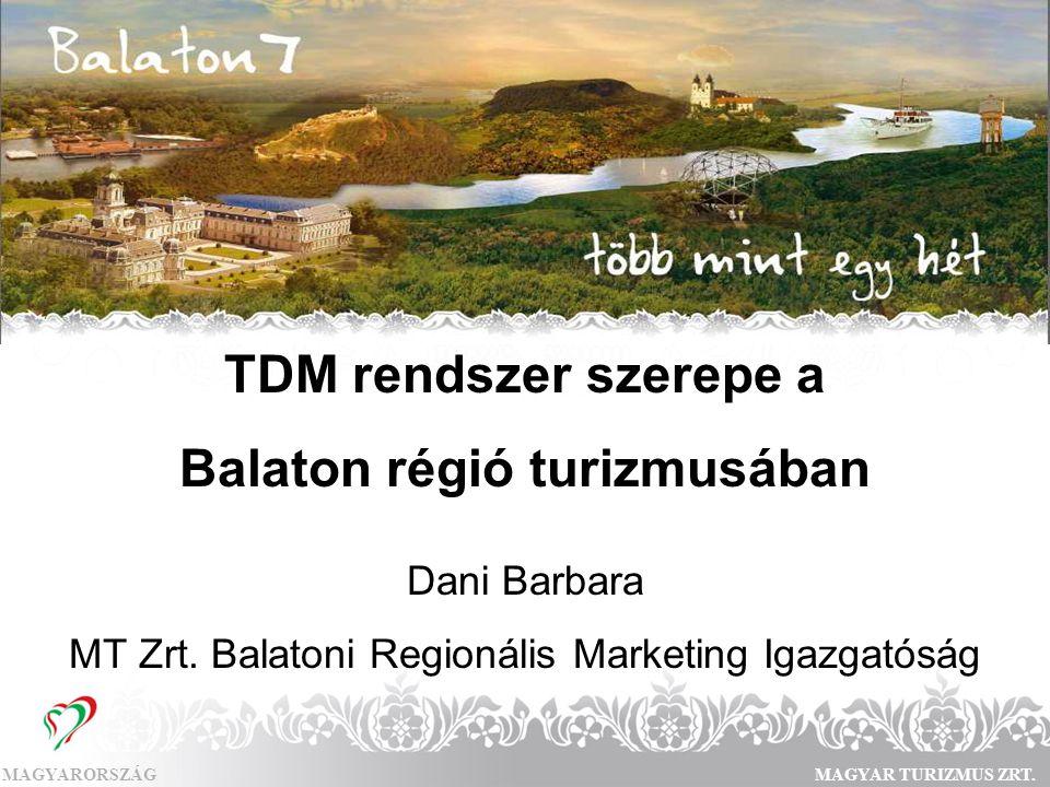 Balaton régió turizmusában