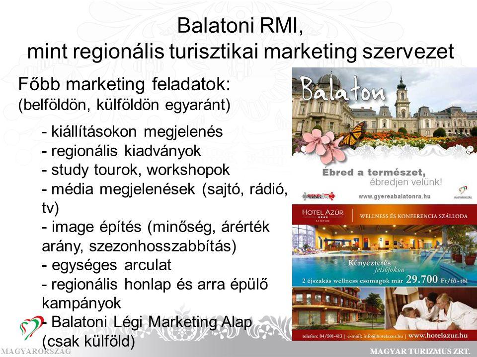 Balatoni RMI, mint regionális turisztikai marketing szervezet