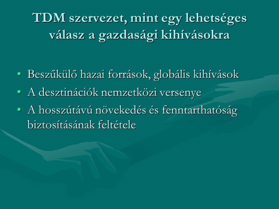 TDM szervezet, mint egy lehetséges válasz a gazdasági kihívásokra