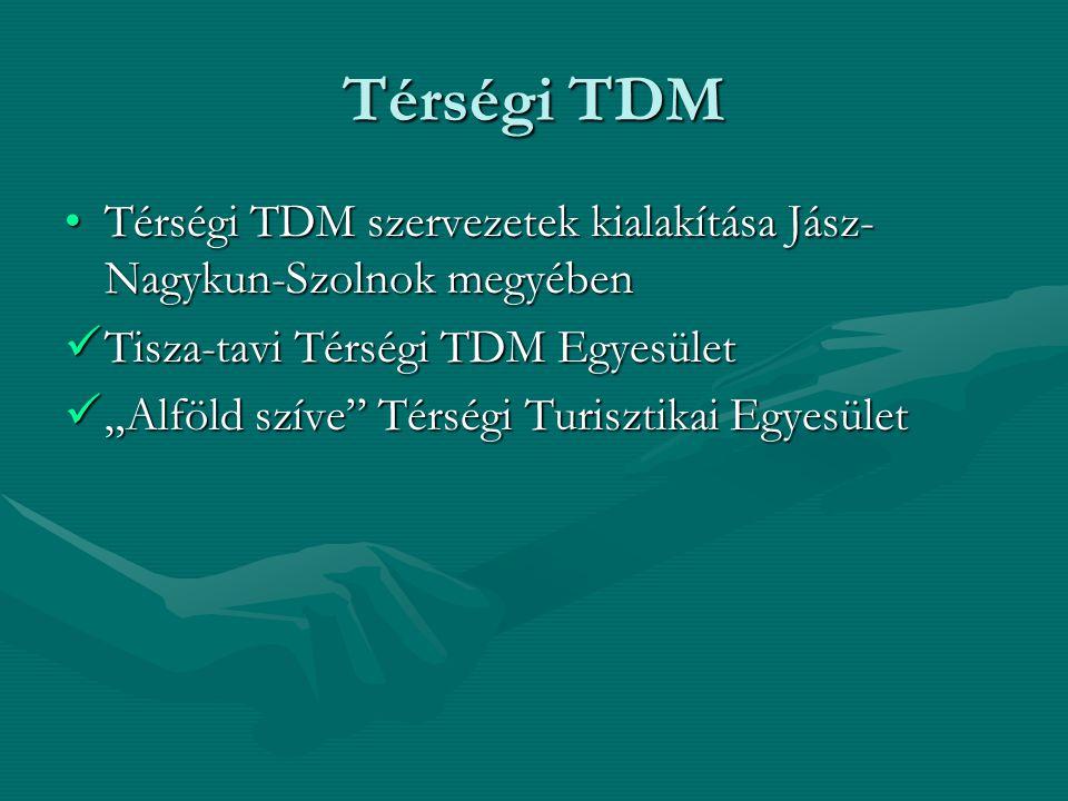 Térségi TDM Térségi TDM szervezetek kialakítása Jász-Nagykun-Szolnok megyében. Tisza-tavi Térségi TDM Egyesület.