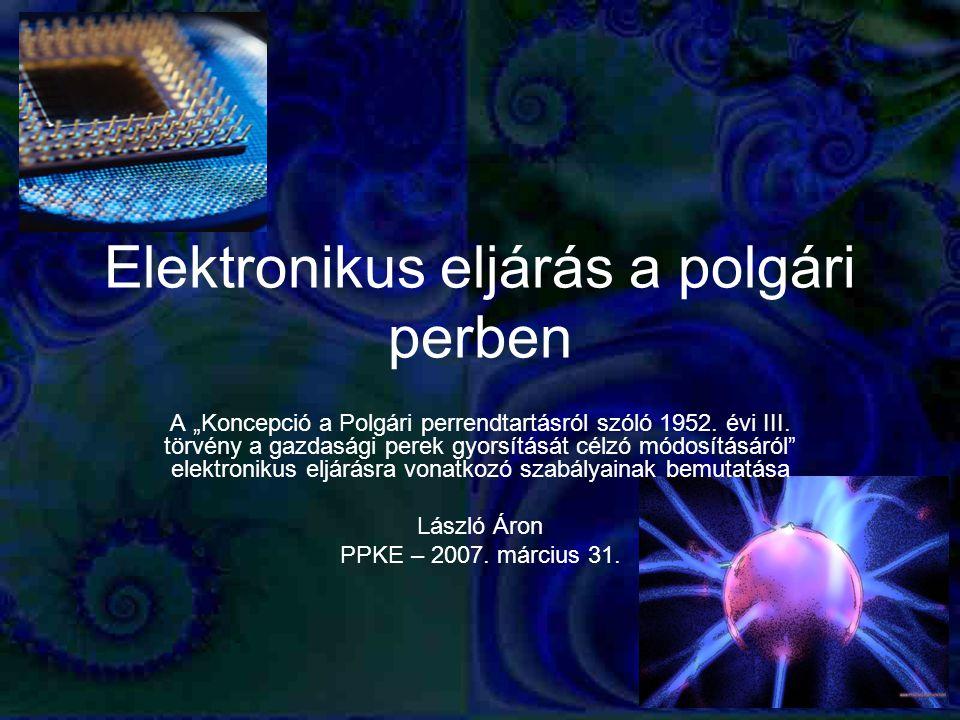 Elektronikus eljárás a polgári perben