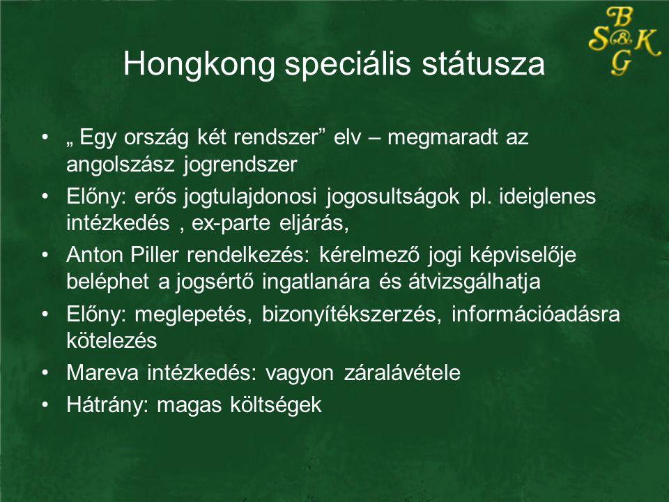 Hongkong speciális státusza