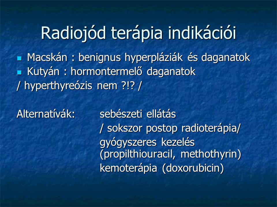 Radiojód terápia indikációi