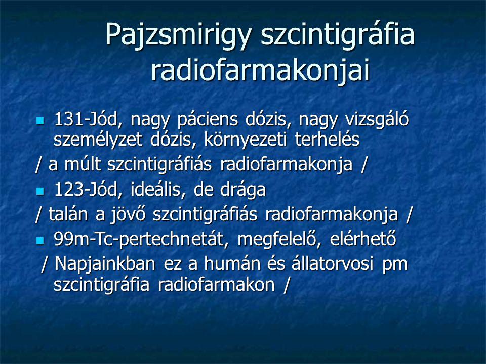 Pajzsmirigy szcintigráfia radiofarmakonjai