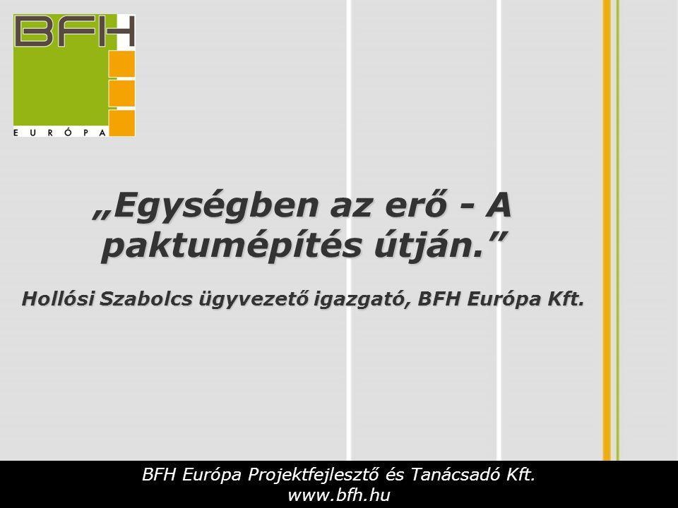 BFH Európa Projektfejlesztő és Tanácsadó Kft.