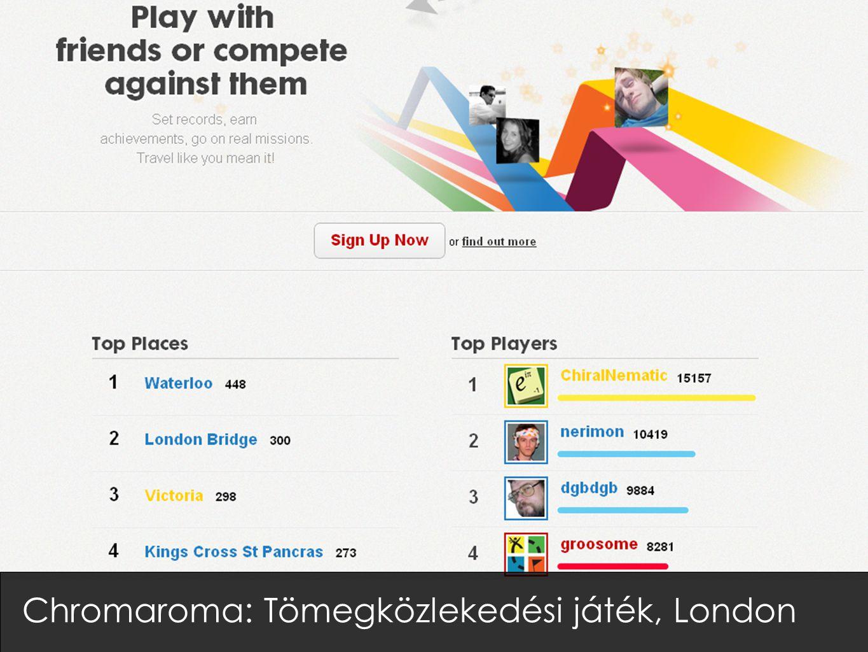 Chromaroma: Tömegközlekedési játék, London