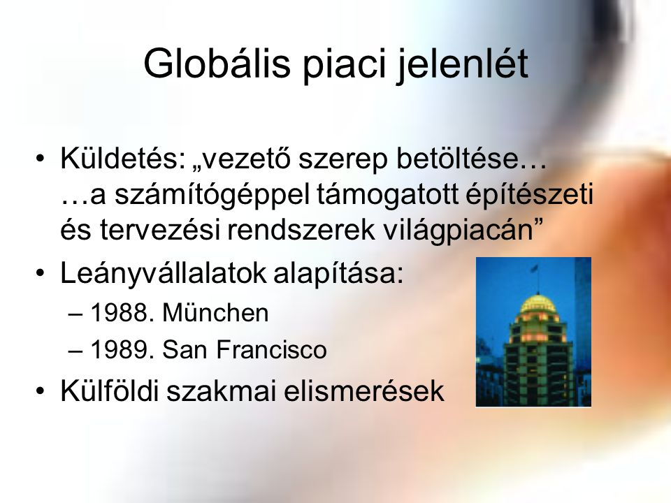 Globális piaci jelenlét