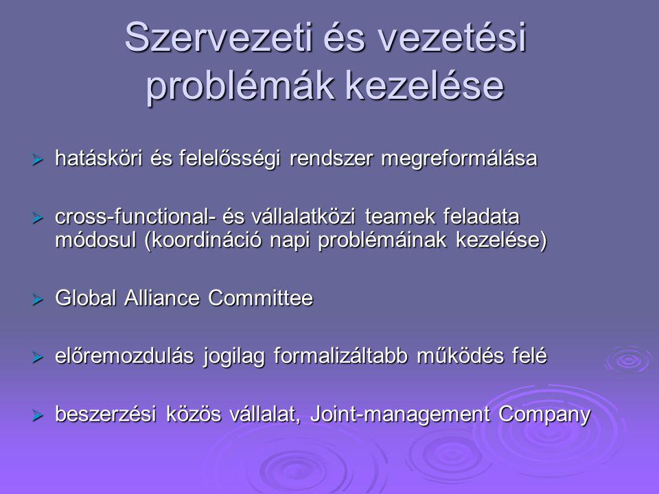 Szervezeti és vezetési problémák kezelése