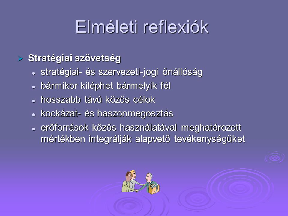 Elméleti reflexiók Stratégiai szövetség