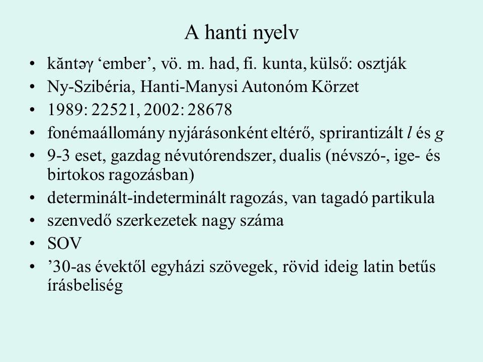 A hanti nyelv kăntəγ 'ember', vö. m. had, fi. kunta, külső: osztják