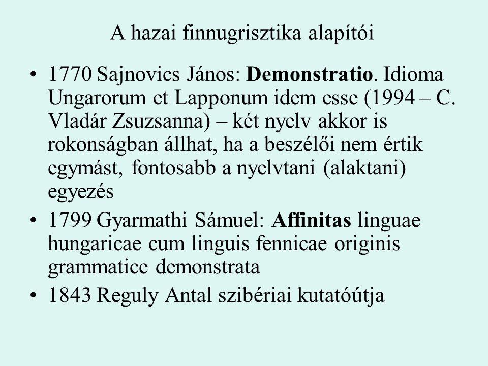 A hazai finnugrisztika alapítói
