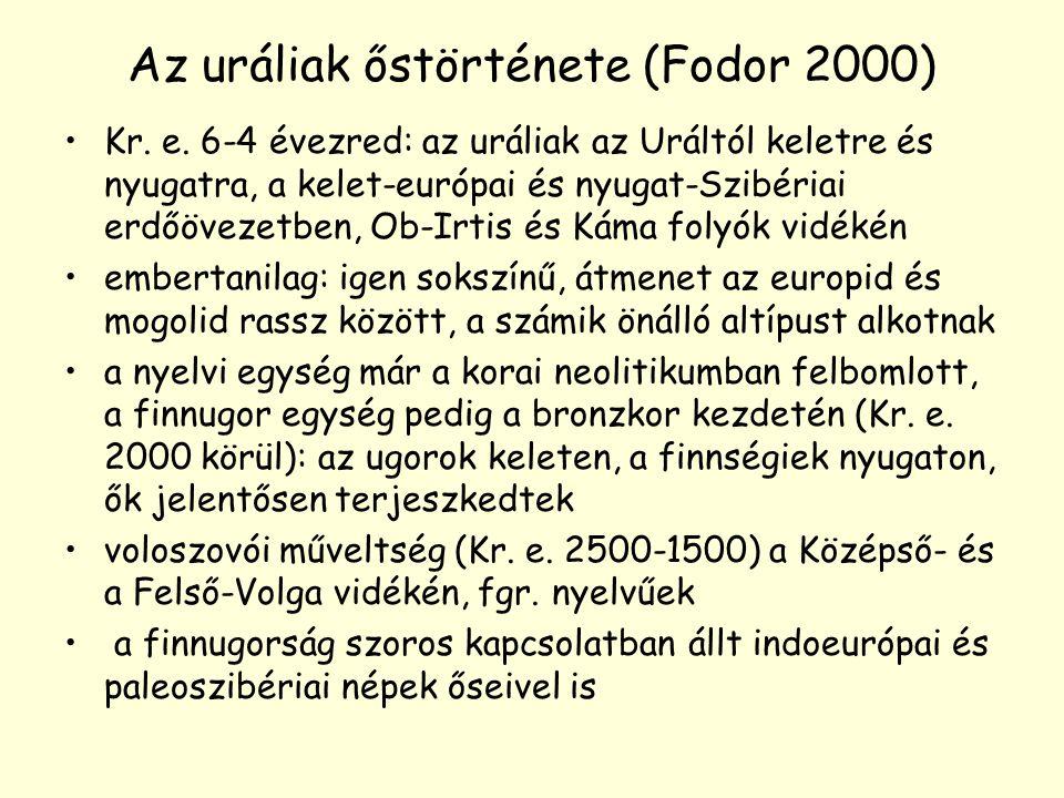 Az uráliak őstörténete (Fodor 2000)