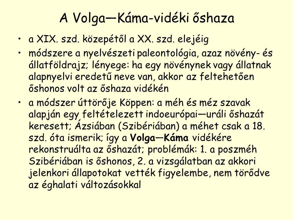 A Volga—Káma-vidéki őshaza