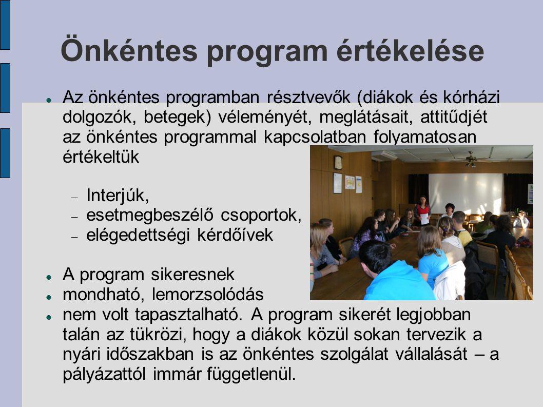 Önkéntes program értékelése