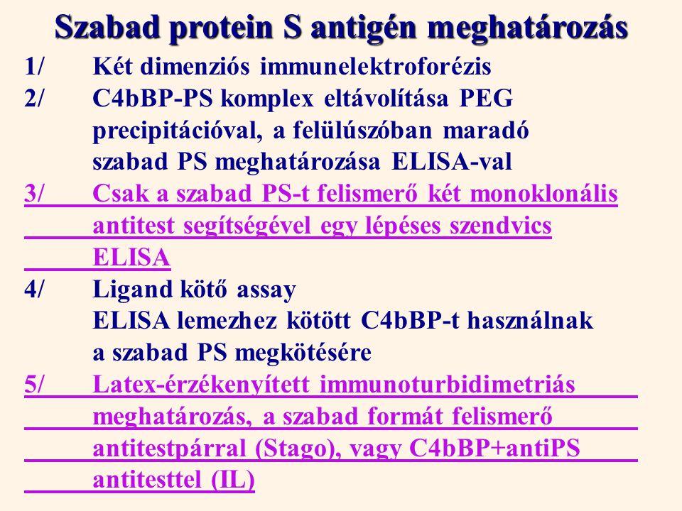 Szabad protein S antigén meghatározás